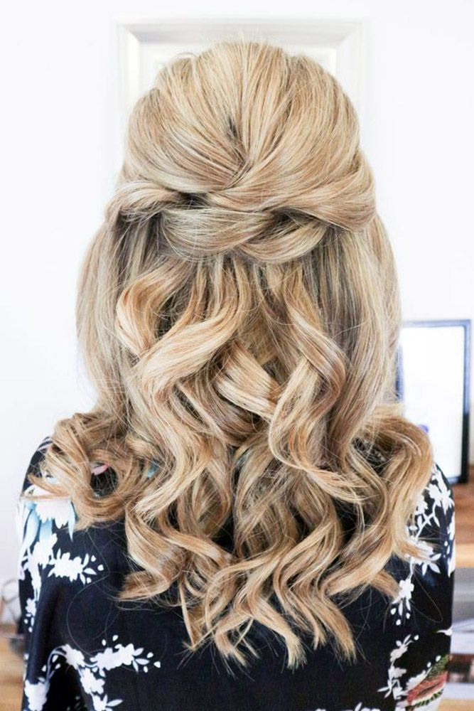 Half Up wedding hairstyle Ideas #weddings #bride #bridal #wedding #hairstyles