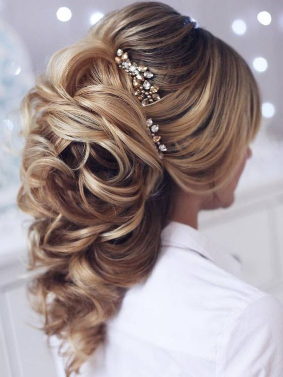 250 Gorgeous Wedding Hairstyles for Long Hair #wedding #weddings #weddingideas...