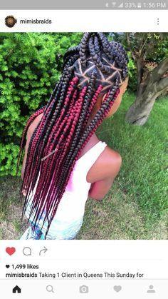 Triangle part box braids