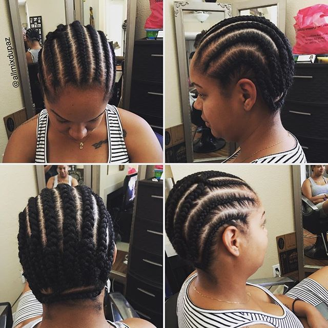 American And African Hair Braiding Braid Pattern For A Crochet