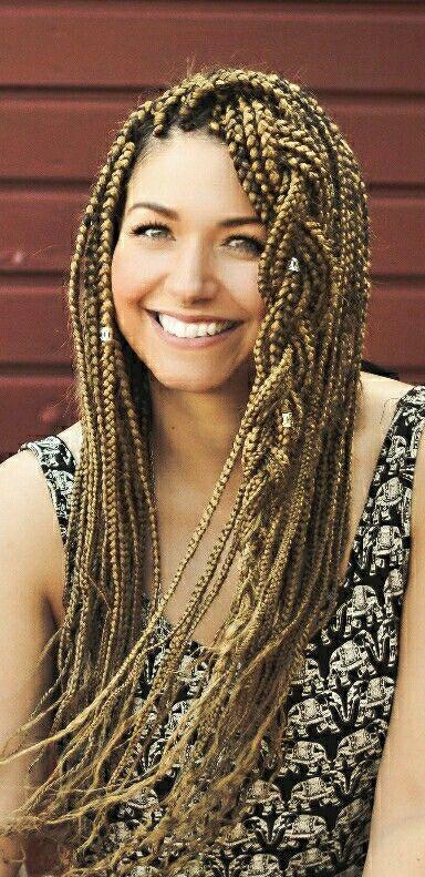 Withe girl with box braids #boxbraids #x-pression27