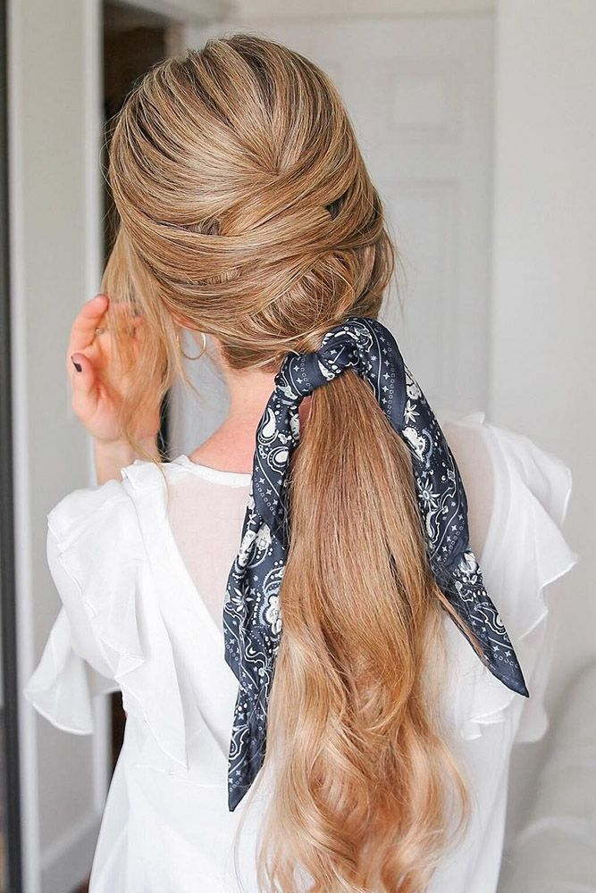24 Pony Tail Hairstyles Wedding Party Perfect Ideas ❤ pony tail hairstyles ele...