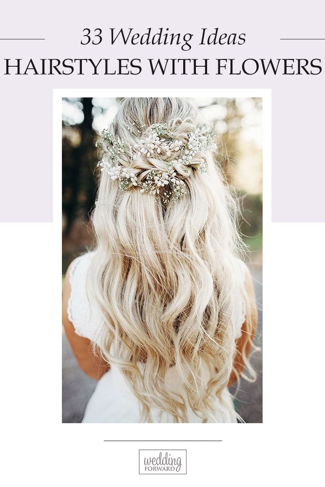 33 Unforgettable Wedding Hairstyles With Flowers ❤ To emphasize tenderness, br...