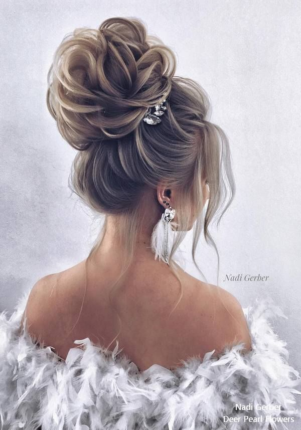 Nadi Gerber Long Wedding Hairstyles and Updos for Bride #weddings #hairstyles #w...