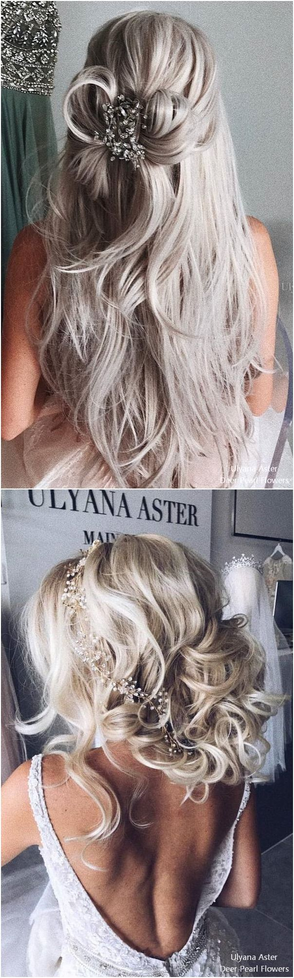 Ulyana Aster Long Bridal Hairstyles for Wedding #weddings #hairstyles #fashion #...