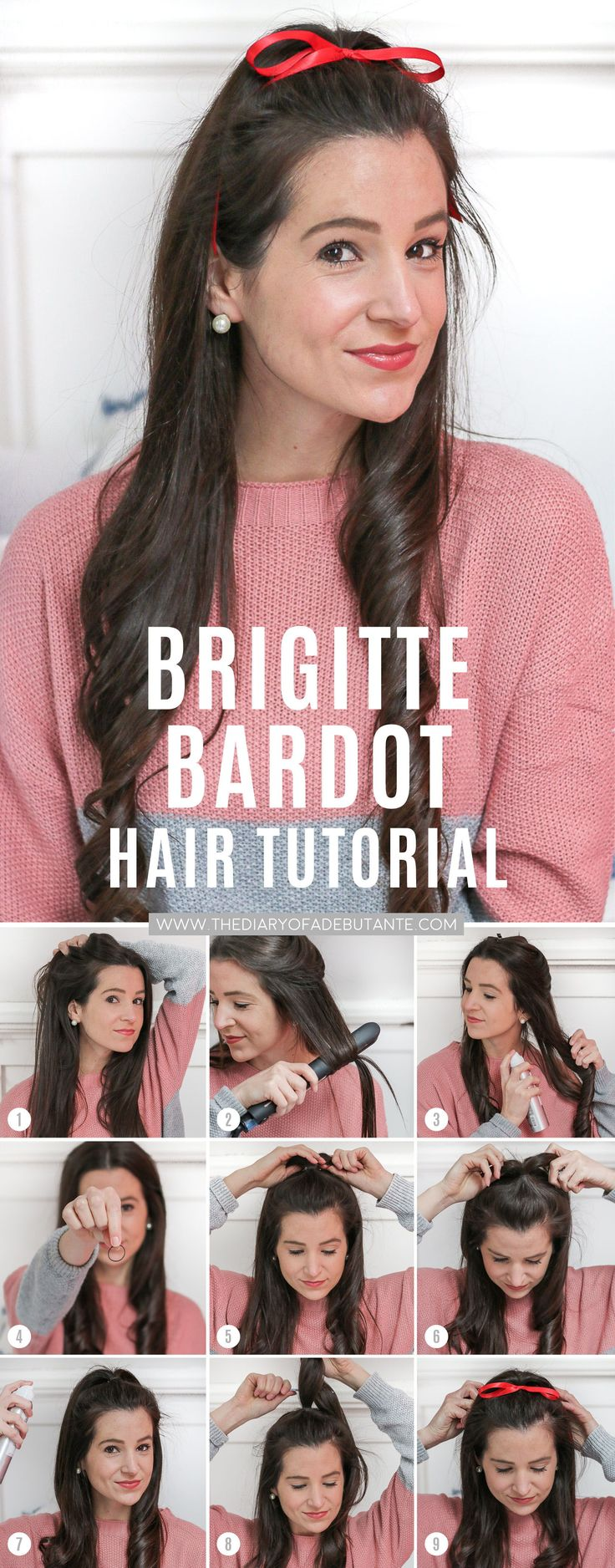 If you're looking for holiday hairstyles for long hair, try this fun Brigitte Ba...