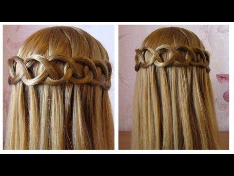 ⭐︎ Tuto coiffure simple et rapide: tresse cascade boucle ⭐︎ Сoiffure fa...