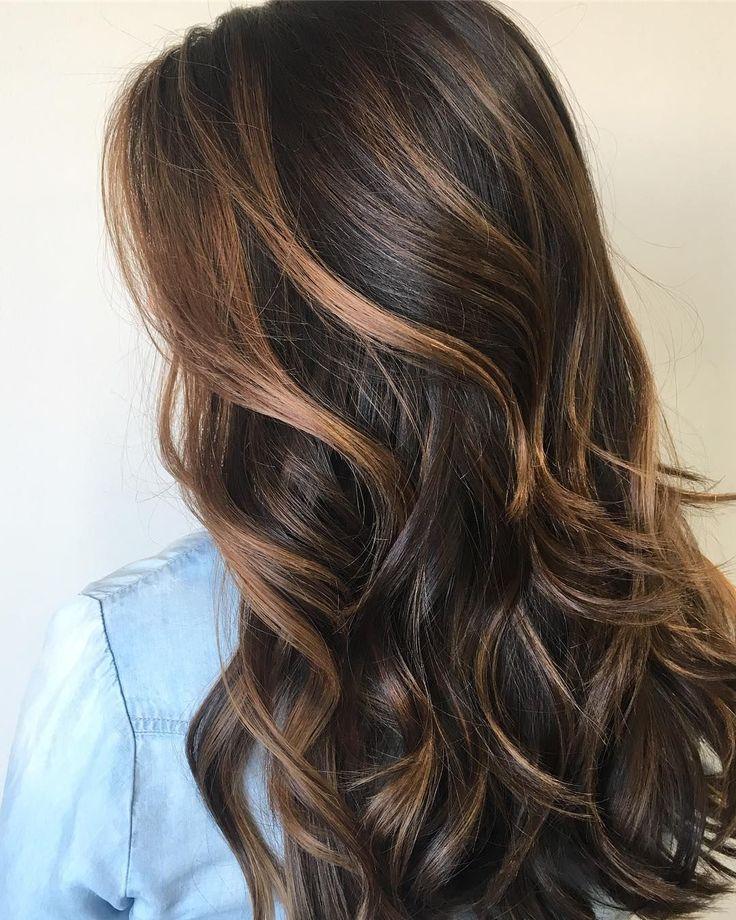 Balayage caramel brown hair #brownhair #balayage
