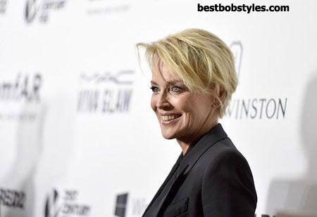 23 New Sharon Stone Short Hairstyles - 13 #BestBob