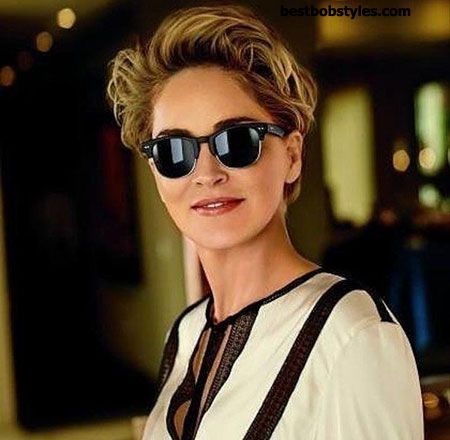 23 New Sharon Stone Short Hairstyles - 2 #BestBob