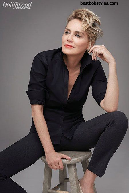 23 New Sharon Stone Short Hairstyles - 8 #BestBob