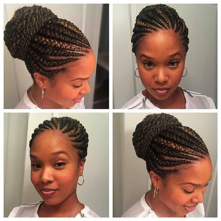 Gorgeous with her Ghana braids on a bun  Brittany Cross  #curlkit #naturalhair...