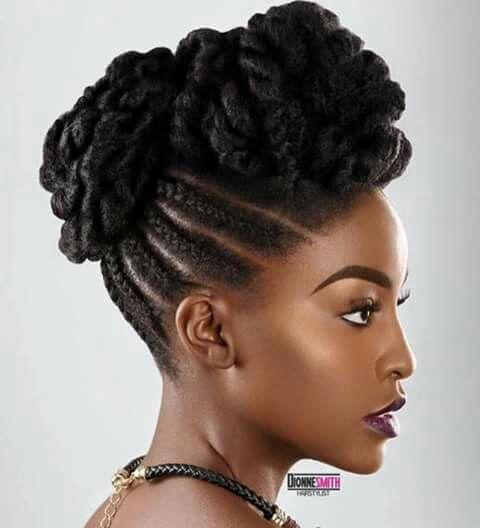 coiffures de soirées afro