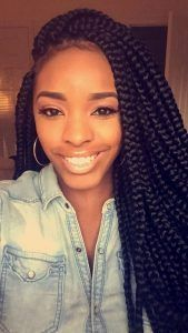 medium box braids #medium #box #braids