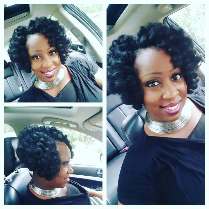Crochet braid bob with Durban Twist hair....3 weeks old...
