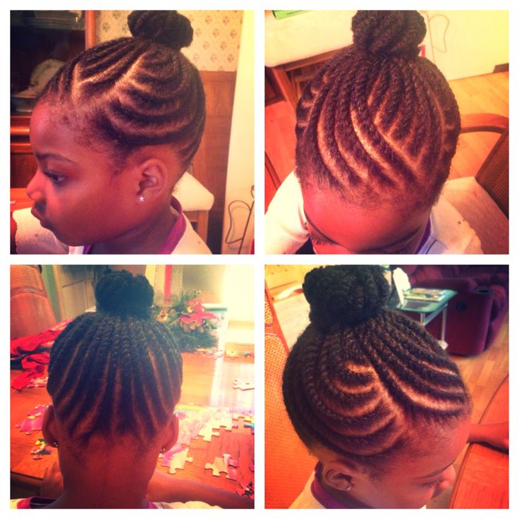 American And African Hair Braiding Kid Natural Hair Style