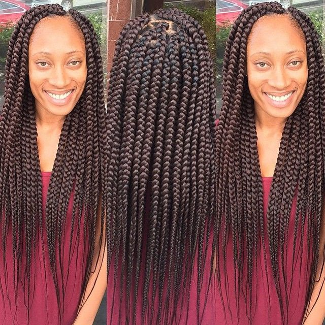 STYLIST FEATURE| In love with these #boxbraids done by #MiamiBraider @_braidsbyk...