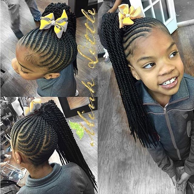 STYLIST FEATURE| Such a cute kids style @hairbyminklittle | #kidshair #braids #f...