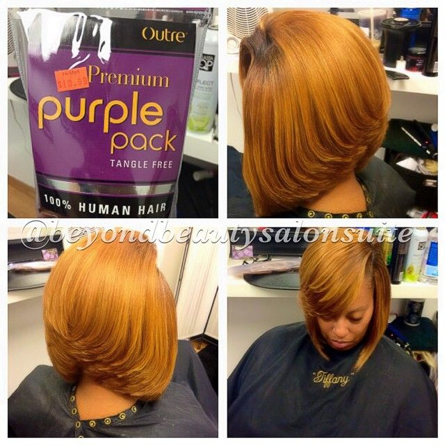 Simple quick weave bob! Outré is the brand I use! It's Yaky brand looks and...