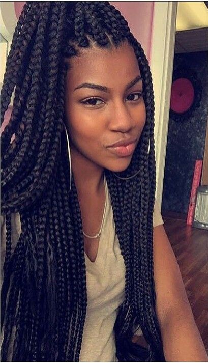 Super long box braids
