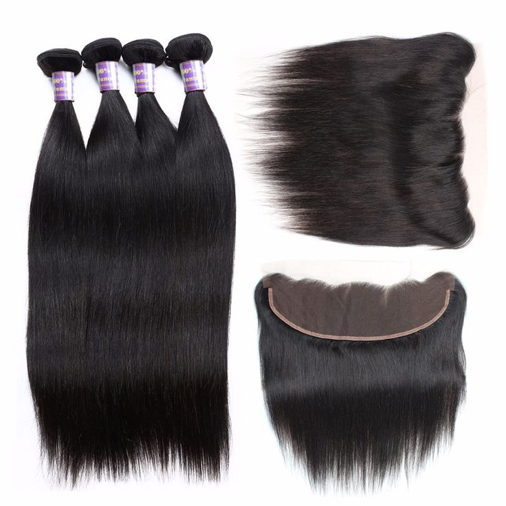 8A Allove 100% Real Human Hair Peruvian Straight Hair With Closure 3 Bundles Rem...
