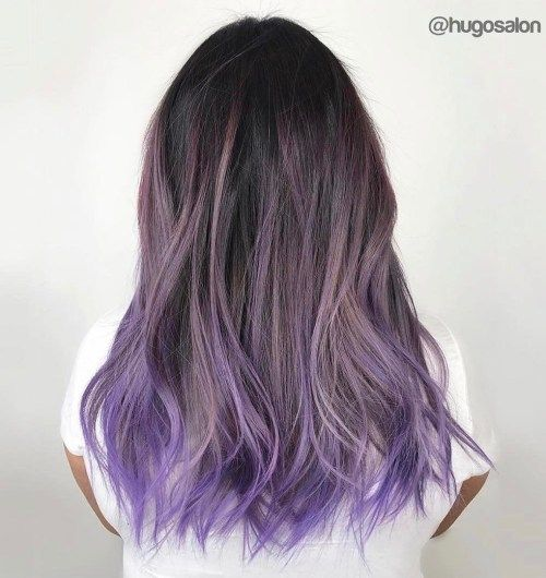 Purple/silver hair 😍