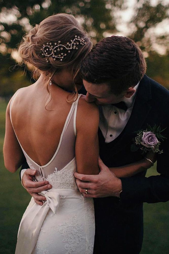 36 Perfect Combinations Of Wedding Hairstyles And Bridal Dresses ❤ wedding hai...