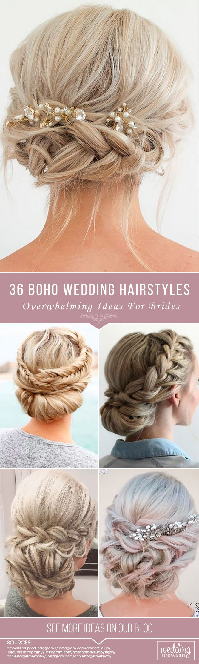 36 Overwhelming Boho Wedding Hairstyles ❤ Here you will find a plethora of boh...