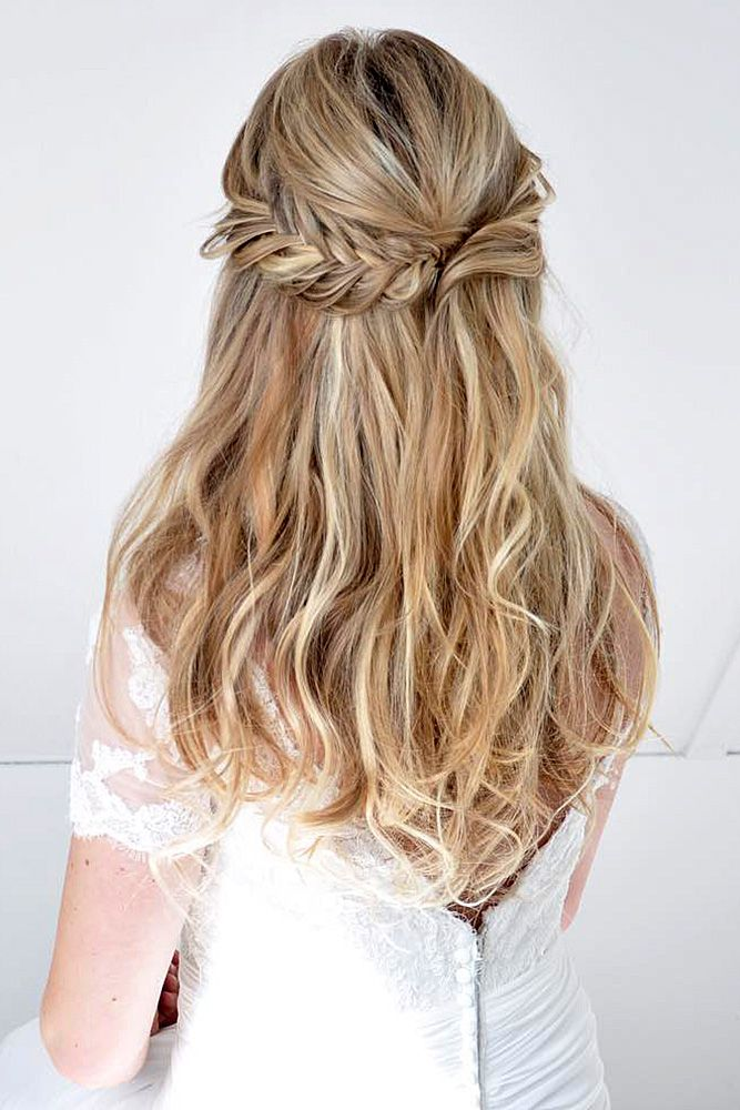 42 Half Up Half Down Wedding Hairstyles Ideas ❤ half up half down wedding hair...