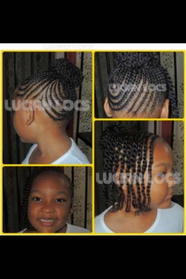 LITTLE GIRL HAIRSTYLES / BRAIDS / PROTECTIVE HAIRSTYLE / HAIRSTYLES / KIDS / BOW...