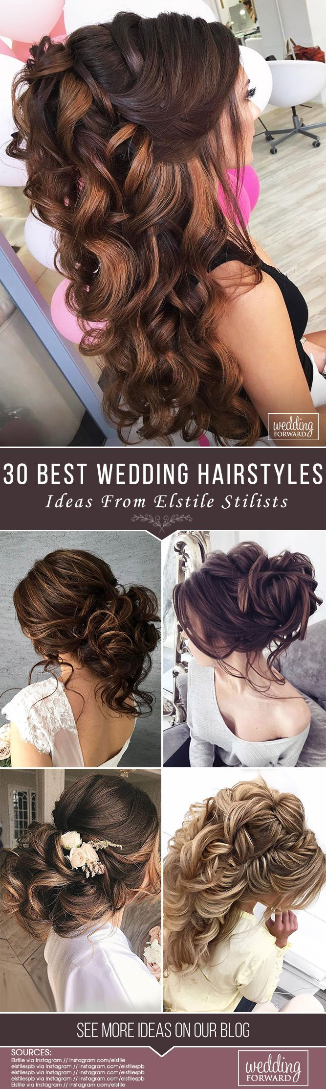 30 Best Elstile Wedding Hairstyles ❤ We have some styles to be perfect inspira...