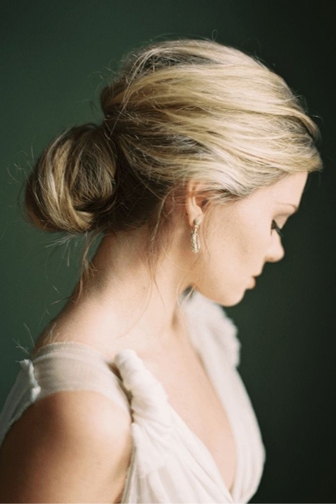 30 Romantic Rustic Wedding Hairstyles ❤ rustic wedding hairstyles messy low ch...