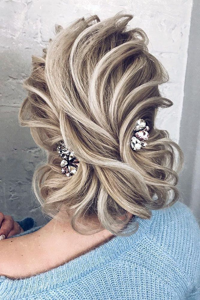 30 Stunning Wedding Hairstyles ❤ wedding hairstyles every hair textured volume...