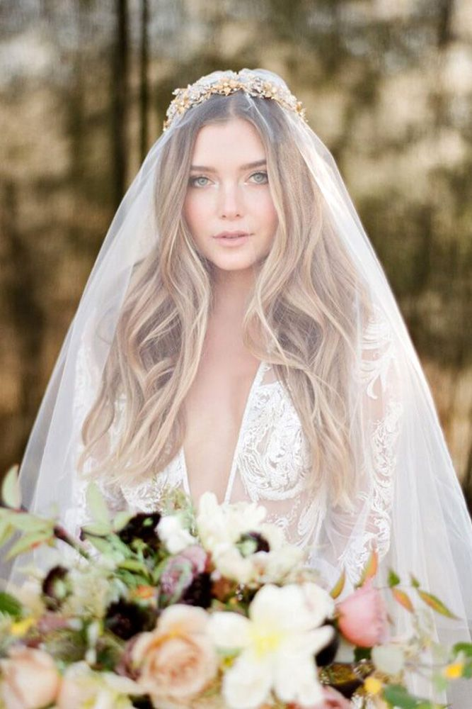30 Timeless Bridal Hairstyles ❤ timeless bridal hairstyles soft curls on long ...
