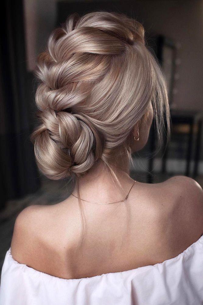 39 Enchanting Wedding Updos ❤ wedding updos textured low bun on blond hair ton...