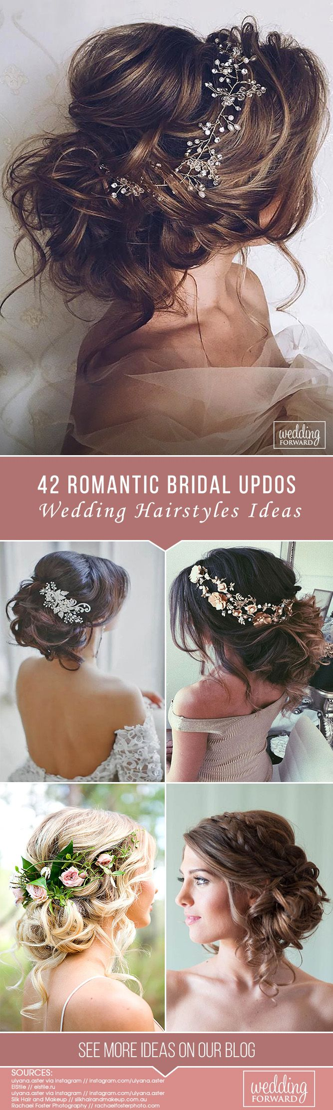 42 Wedding Hairstyles - Romantic Bridal Updos ❤ We make a list of our favorite...