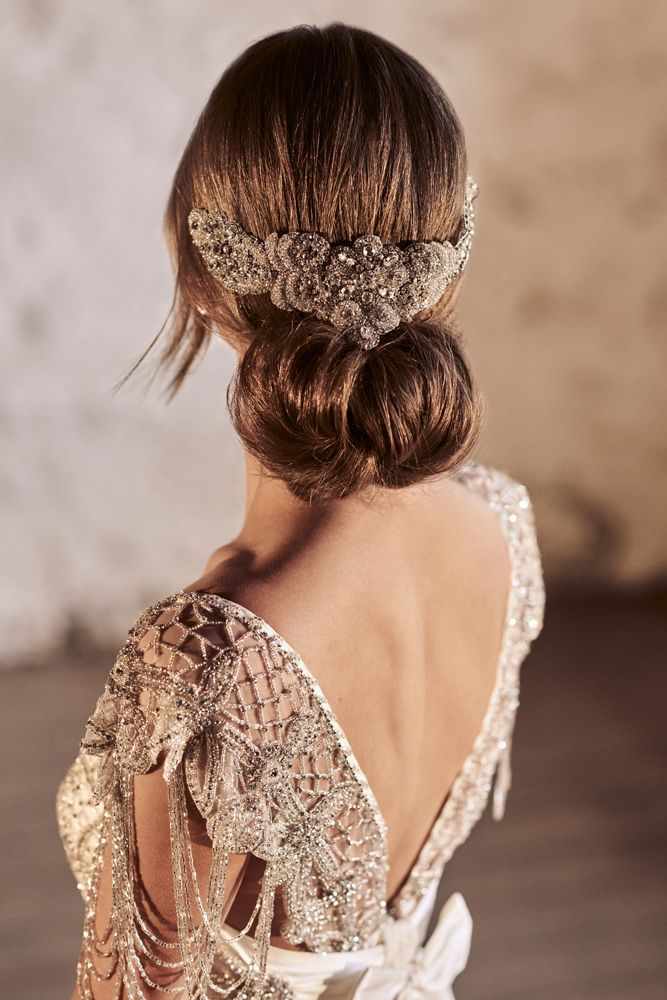 Amazing Anna Campbell 2018 Wedding Dresses ❤️ Wedding hairstyles with comb a...