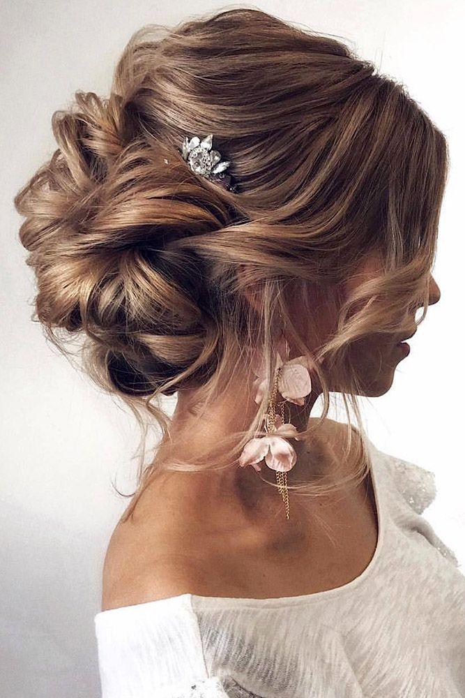 Best Wedding Hairstyle Trends 2018 ❤ wedding hairstyle trends swept volume bun...
