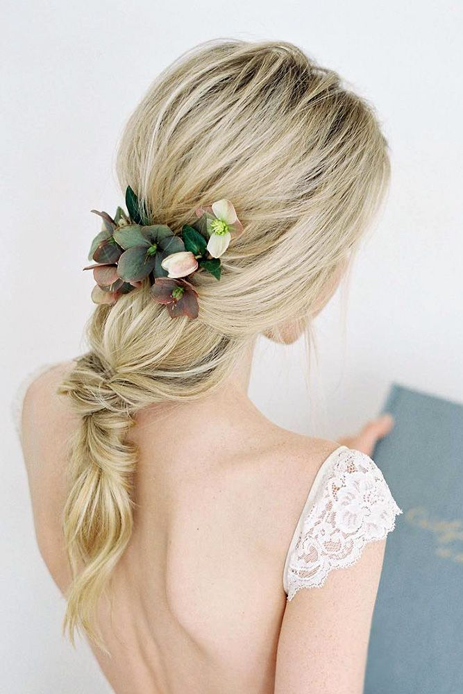 Best Wedding Hairstyle Trends 2018 ❤ wedding hairstyle trends updo wirh ponyta...