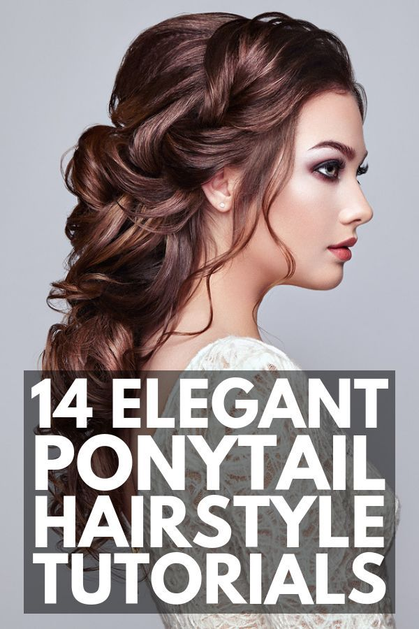 14 Ponytail Hairstyles for Long Hair | Whether you have pin straight or super cu...