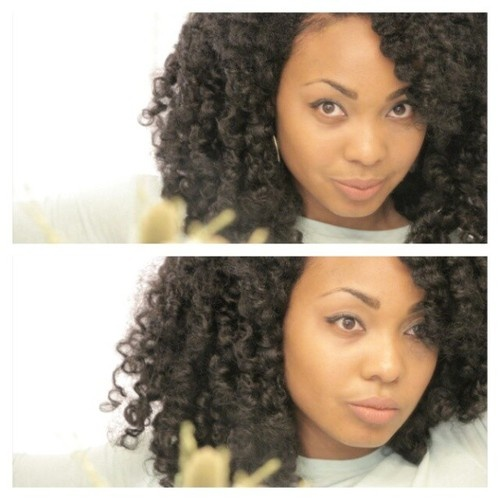 Curly Twist Out Tutorial method was used to achieve this twist out! I used norma...