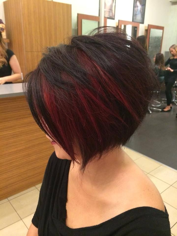 A beautiful mix of reds by our educator stylist Adam