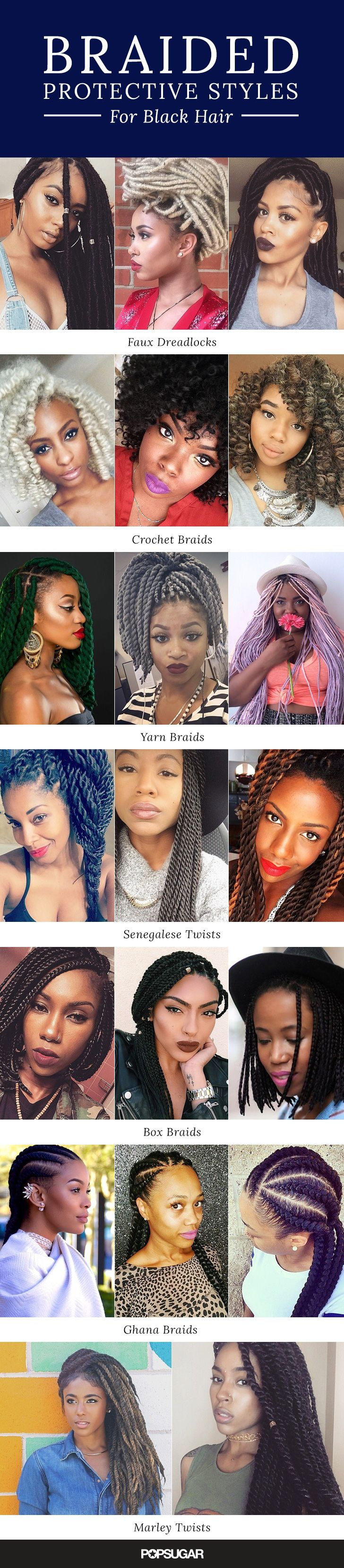 Looking for a new protective hairstyle for natural hair? These braids for black ...