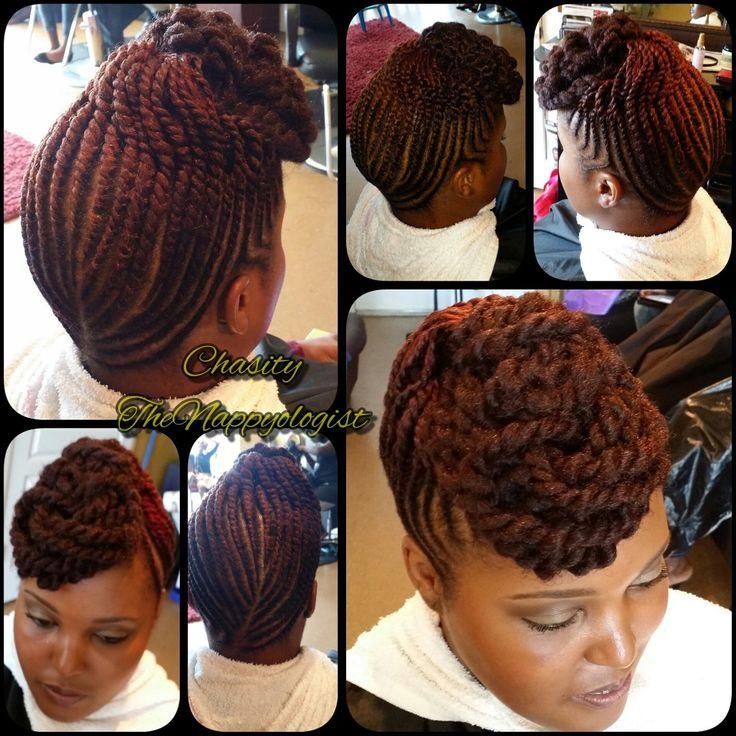 Signature Twist Updo with marley hair by @nappyology101llc - community.blackha.....