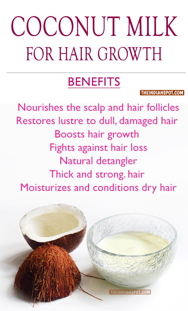 Coconut milk hair treatment for hair growth