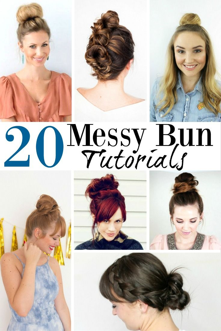 These 20 Easy Messy Bun Tutorials are a complete game changer for those of you w...