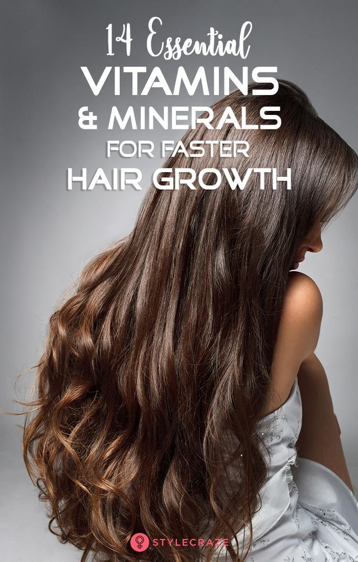 14 Essential Vitamins And Minerals For Faster Hair Growth: When it comes to hair...