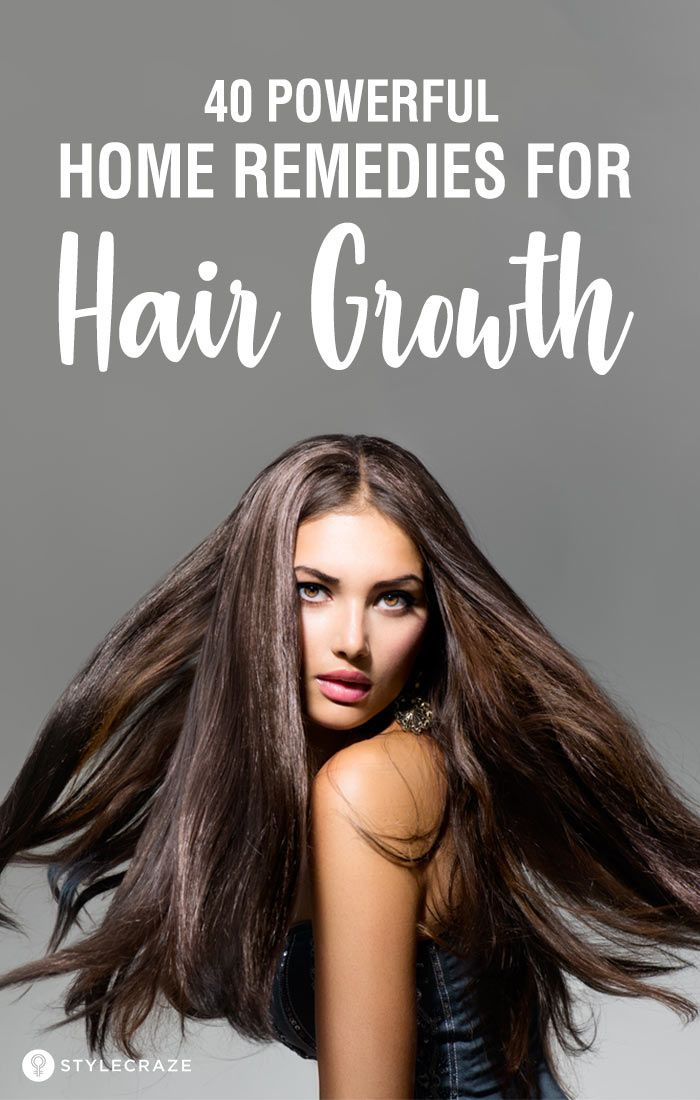 40 Powerful Home Remedies For Hair Growth That Work Wonders: Hair fall, hair los...