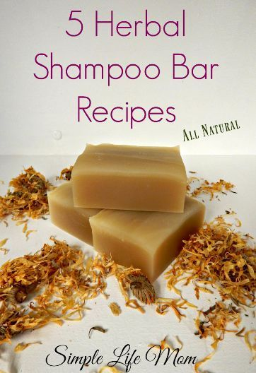 5 Natural, Organic Herbal Shampoo Bar Recipes using herbs and essential oils to ...