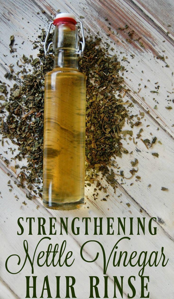 Strengthening Nettle Vinegar Hair Rinse can help with hair loss, strengthen hair...